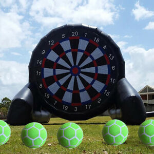 Indoor & Outdoor Inflatable Soccer Darts Board with 6pcs Ball for Sports Game 10