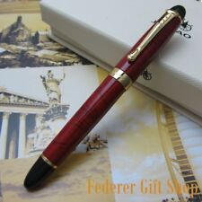 Jinhao X450 Red and Good Fountain Pen 0.7mm Broad Nib 18KGP Golden Trim