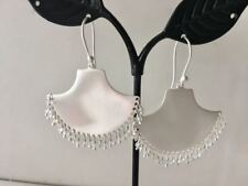 Genuine 925 Sterling Silver Gemstone Earrings Teardrop Triangle Disc Aquamarine