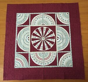 QUILT Flowers Stack 'N Whack Fan hand-made wall hanging
