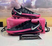 Nike Phantom GT Elite FG Soccer Cleats Black Pink CK8439-006 Men's Size 8, 10