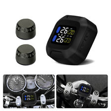 Motorcycle TPMS System Tire Tyre Temperature Pressure Monitor 2x Sensor Ma1444