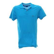 Tommy Hilfiger Herren Poloshirt Größe S Kurzarm Freizeit Hemd Hellblau