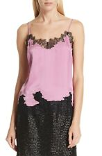 ROBERT RODRIGUEZ Silk Lace Vintage Rose Cami Blouse Tank Top (Size S) NWT $395
