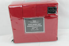 New Sunham Glenmore Collection 320 Thread Count 6 Piece King  Sheet Set Red $140