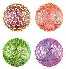 New Squishy Mesh Balls Squeeze Stress balls Yuch Colour Party Bag Fun Gift UK