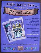 The Great Dalmuti Card Game Sell Sheet (no cards) 1995 Wizards of the Coast