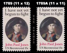 1789 1789A John Paul Jones Variety Set 2 Perf. 11x12 and Perf. 11 MNH - Buy Now