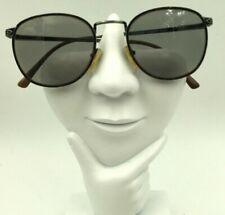 Vintage Lamy London X883 Tortoise Gray Metal Oval Sunglasses Frames Only
