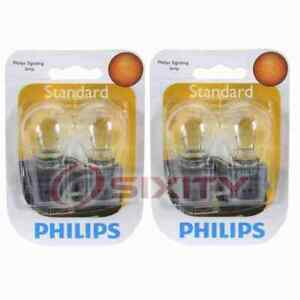 2 pc Philips Back Up Light Bulbs for Chrysler Town & Country 1998-2008 ky