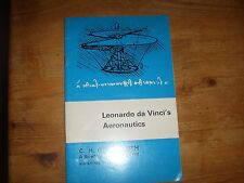 Vintage 1975 Science Museum Booklet Leonardo Da Vinci's Aeronautics1975