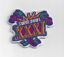 1997 Super Bowl XXXI patch Packers vs Patriots SB 31 Green Bay New England Favre