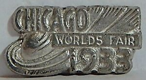 VINT CHARM NO RING 1933 CHICAGO WORLD'S FAIR  SILVERED