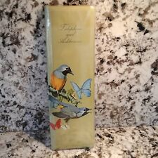 Telephone & Address Book Vintage 1960's Colorful Birds Butterfly  mid-century