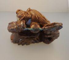 Dragon Carved Figurine, Australian Opal Queensland Boulder Opal 744.0 Ctw