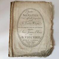 Partitura Cuatro Sonata B. Viguerie De Autor Siglo XIX O Avant