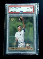 Derek Jeter 1993 Upper Deck RC #449 PSA NM-MT 8 Rookie New York Yankees