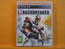 ps3 BACKBREAKER Intense American Football Game Playstation PAL UK REGION FREE