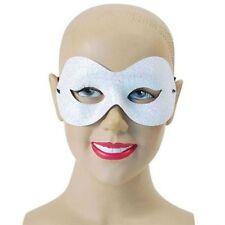 Sparkle Glitter White Domino Eye Mask Fancy Dress Masquerade Accessory P6269
