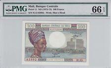 Mali 1972 100 Francs P -11 PMG Gem Unc 66 EPQ