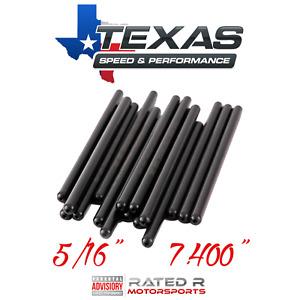 """Texas Speed GM LS 5/16"""" Hardened 7.400"""" Pushrods LS1 LS3 4.8L 5.3L 5.7L 6.0L 6.2"""