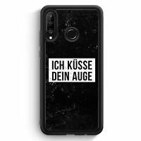 Ich Küsse Dein Auge Huawei P30 Lite Silikon Hülle Motiv Design Cool Witzig Lu...