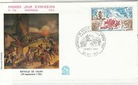 France 1971 Battle of Valmy Picture Slogan Cancel + Stamp FDC Cover Ref 31687