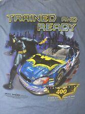 2003 Batman Begins 400 NASCAR Racing T-Shirt XL Blue DC Comics Michigan Speedway