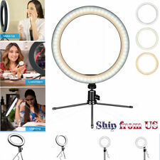 """6"""" Dimmable Mini LED Ring Light w/Tripod for Video Live Stream Makeup Selfie USB"""