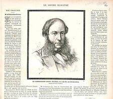 Henri Laurent Rivière Officier Marine FRANCE GRAVURE PRINT 1883