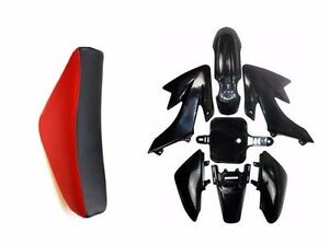 Plastics Fender & Complete Seat for Honda XR CRF50 125 SSR SDG 107 PIT Dirt Bike