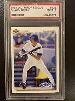 1992 Upper Deck Shawn Green PSA 9. Minor League. Great Card. Blue Jays. Dodgers