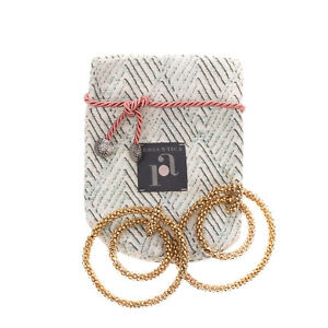 RRP €115 ROSANTICA Drop Earrings Gold Tone Double Hoop Made in Italy