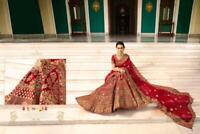 Velvet Art Silk Maron Party Wear Zari Work Lengha Choli Lehenga Sari Saree Rakhi