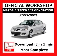 >> OFFICIAL WORKSHOP Manual Service Repair Mazda 3 Speed 1 2003 - 2009