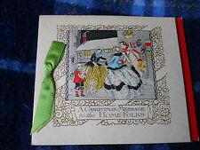 Vintage 20s  or earlier to the HOME FOLkS- CHRISTMAS GREETING CARD