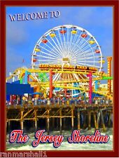 The Jersey Shore New Jersey Boardwalk United States Travel Advertisement Poster