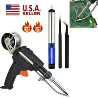 Manual Soldering Gun Electric Iron Automatic Soldering Machine Kit Tool 110V US