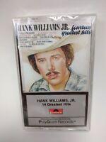 New Factory Sealed   Hank Williams, Jr.  14 Greatest Hits 1994 Cassette