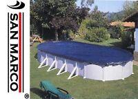 Telo Gre per copertura invernale oscurante su piscina ovale da 610x375 cm