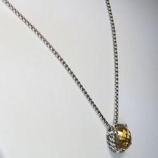 David Yurman Citrine Chatelaine Pendant Necklace 925 Sterling Silver