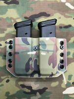 Infused Multicam Kydex Dual Magazine Carrier for Glock 9mm .40 .357