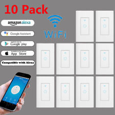 10X Smart WIFI Light Wall Switch Works w Alexa Google Home IFTTT Safety life App