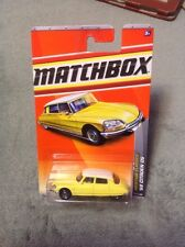 1/64 MATCHBOX '68 CITROEN DS YELLOW WITH WHITE ROOF RARE! 23/100