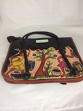 Genuine Ladies shopping bag handpainted photochitra design 32x37x9.5cm UHDC-831
