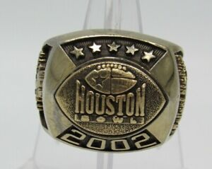 NCAA Houston Bowl 2002 Southern Miss Golden Eages Game Ring Reliant Stadium