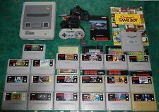 Super Nintendo (SNES) Einsteigerset mit 19 Spielen + Super Game Boy + Berater