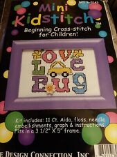 Love Bug~VW Beetle Cross Stitch Kit~Flower  Embellishment included~Opened