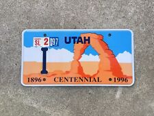 1896 - 1996 - UTAH - CENTENNIAL - LICENSE PLATE