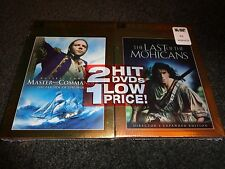 LAST OF THE MOHICANS with MASTER & COMMANDER Far Side of the World-2 DVDs-NEW